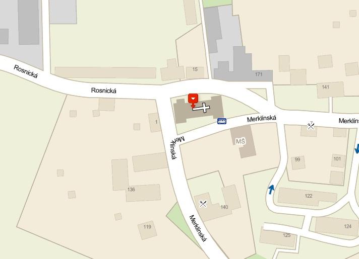 Kostel Sedlec mapa